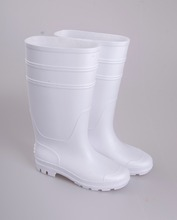Hot Selling PVC White Gumboots for Food Industry, Clean Rain Boots