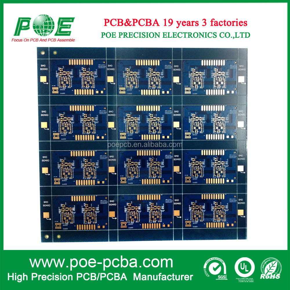 Immersion Gold 4 layer PCB Circuit Boards/ Panel Blue Solder PCB