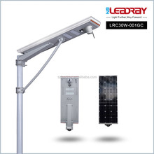 IP65 waterproof 30W All in one solar Led street Light CCTV camera and motion sensor,built in LIFePO4 Battery