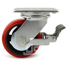 Floor Lock / Side Mount Locking Swivel Caster Wheel with Brakes