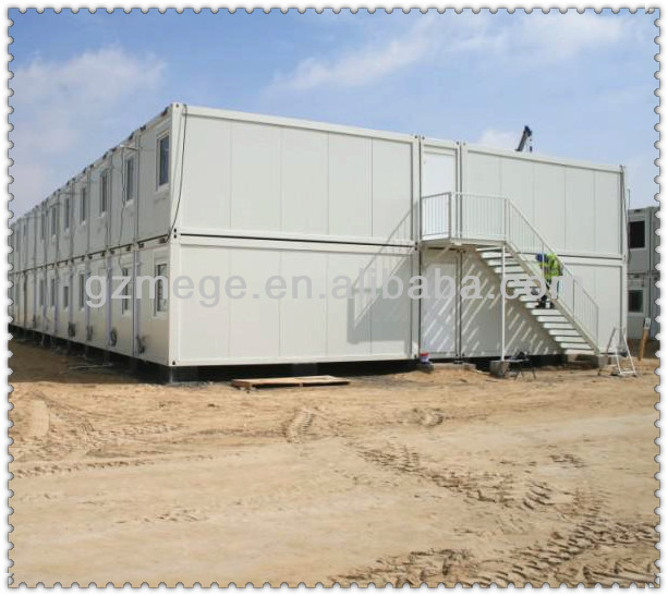 Construction site two storey container camp