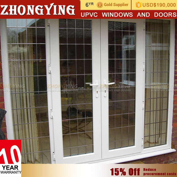 Impact resistance upvc unequal teak wood main door designs double door