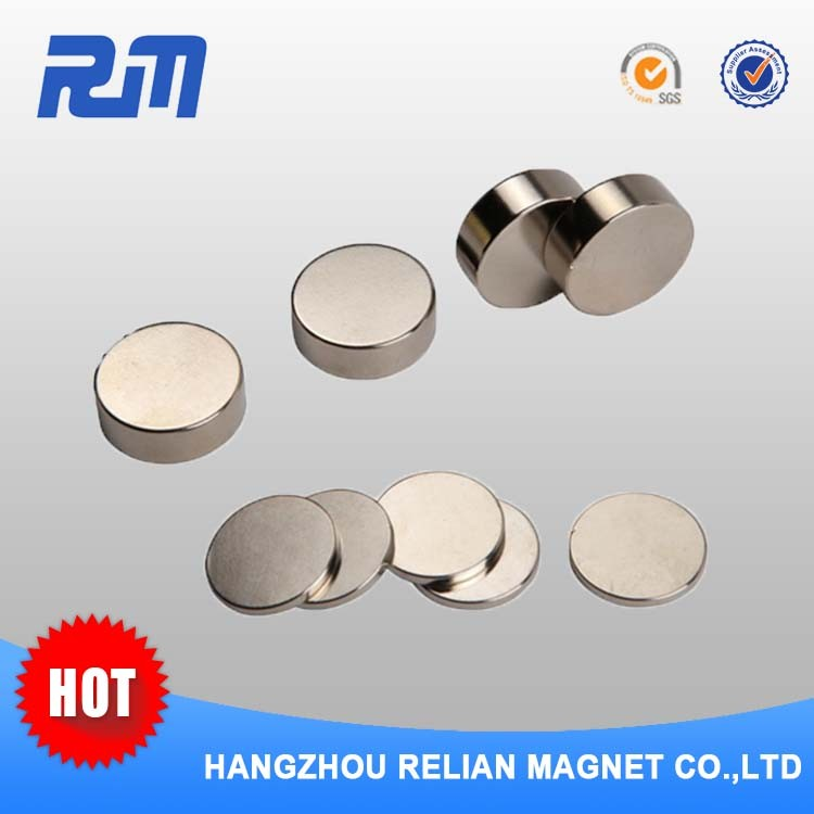 Free sample super strong thin coin shape magnetic button