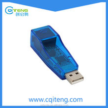 USB 2.0 To LAN RJ45 Ethernet 10/100Mbps Network Card Adapter Blue for PC& Laptop