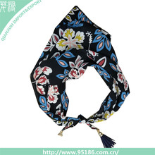 SC-125192 Scarves Lady Ribbon Tied Handle Decoration Make Ribbon Scarf Silk