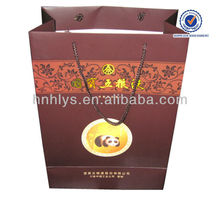 Luxury Wine Paper Gift Bag With PP Handle