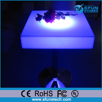 high top square led table for bar/nightclub/KTV/party,glowing led cafe furniture