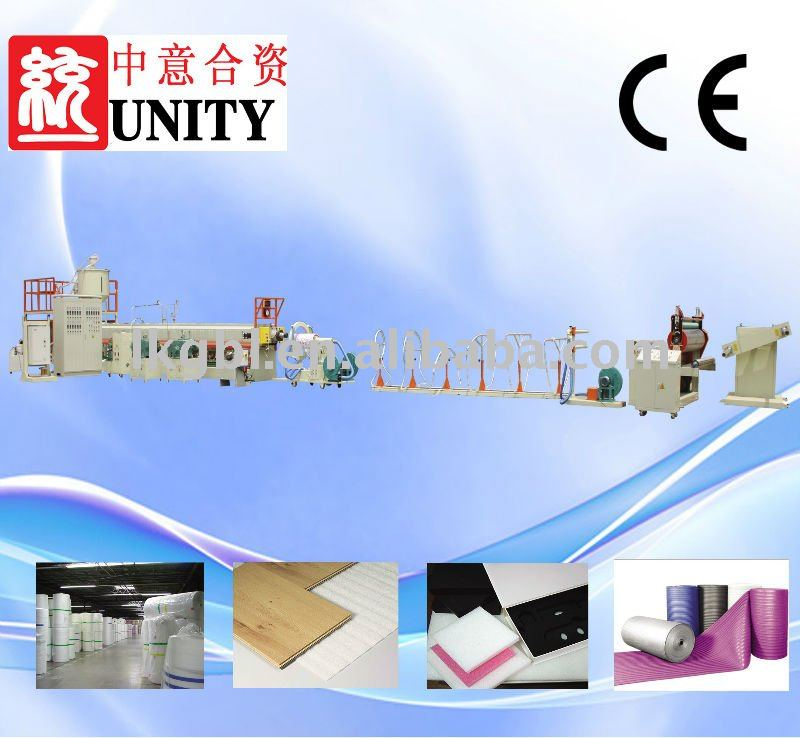 high quality pe foaming sheet production line(CE APPROVED TYEPE-120)