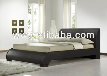 Furniture Bedroom Finn Faux Leather PU Bed / Bedroom beds