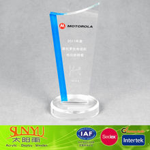 Custom Clear Crystal Acrylic Award Trophies Wholesale