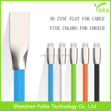 Wholesale Zinc Alloy micro usb data cable 8 pin data cable for iphone