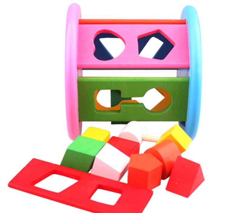 FQ brand wooden color recognition shape sorter colorful geometric board sorting matching puzzle toys for kids wood learning toy