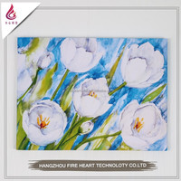 Stretched or unstretched modern flower oil painting