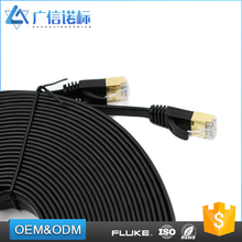 Factory directly sell rj45 plug PATCH CORD Flat or round cat 6 Ethernet Cable 3m