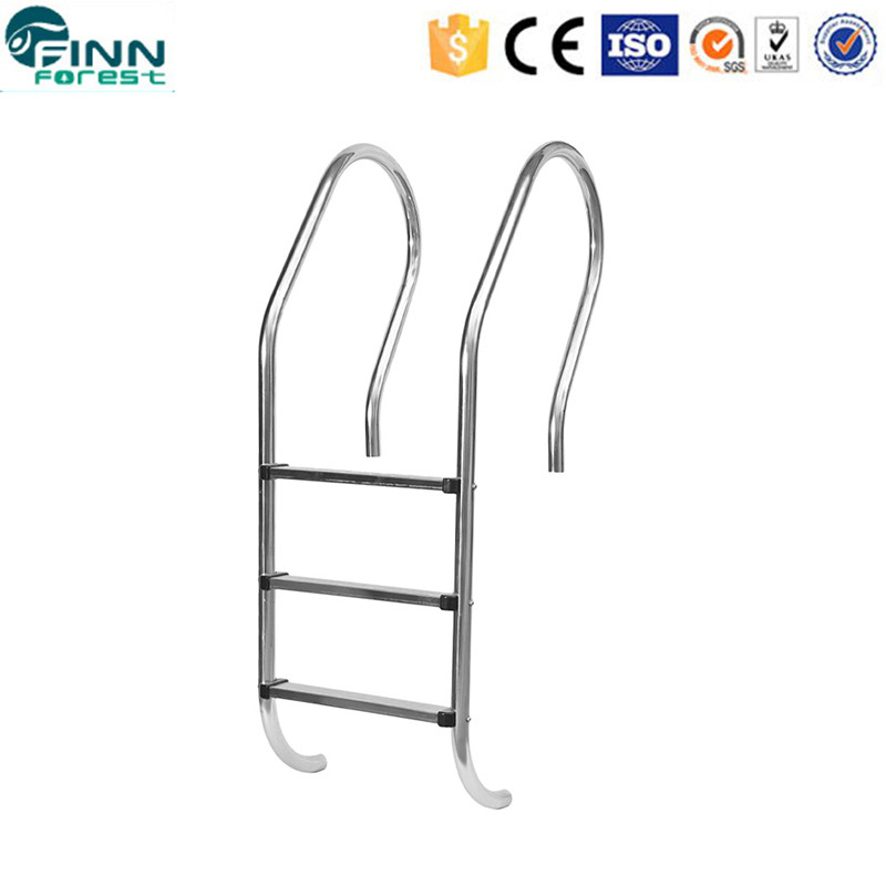 Stainless steel folding pool ladder steps two step ladder with handle