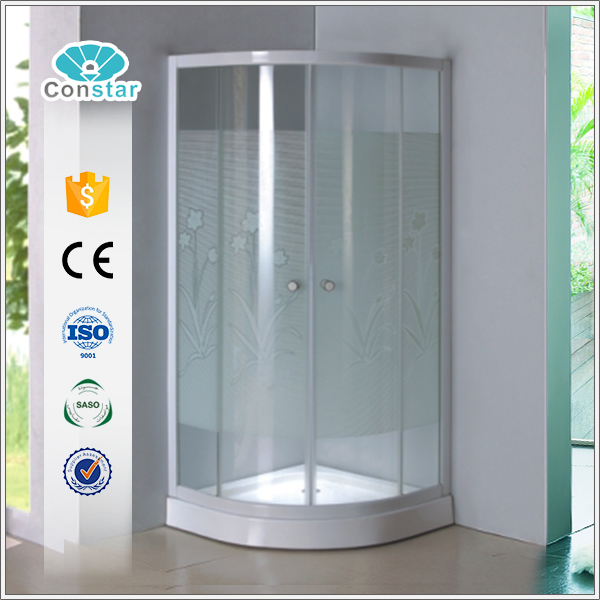 hotel enclosed shower cubicle with base