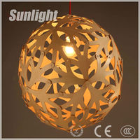modern creative ball shape& Artistic Hollow out wooden pendant lamp/lighting