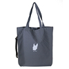 Large Personalised Grey Cotton Canvas Tote Bags With Printing