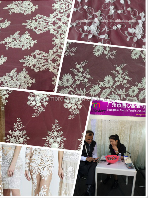 2015 water dissolving lace/double color guipure lace for fashion garment