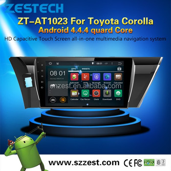 Quad core Android car dvd player for Toyota Corolla car audio Gps Multimedia System