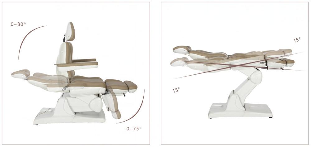 De haute qualité De Luxe conception cosmétique du visage lits & beauté électrique chaises avec 3 moteur