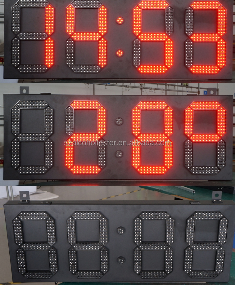led gas station display/ large outdoor digital clock