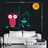 Original brand Diy Cute animal wall clock art real quartz clocks direct selling modern design watch stickers home decals