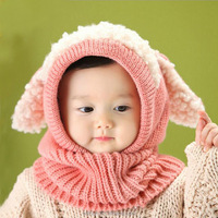 Hood Scarf Caps Set Christmas gift Gorras Lovely Baby Boys Girls Knit crochet Winter Warm Knitted Snowman Hat