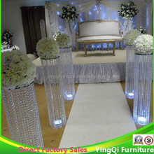 Decorative Crystal Beaded Wedding Pillars for sale
