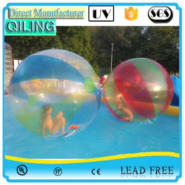 QL Good price 1.6m PVC clean water skimming ball for game sports