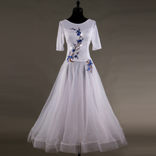 2018 New Profession Ballroom Dance Dresses For Women Waltz Tango High Quality Diamond Performance Dancing Wear