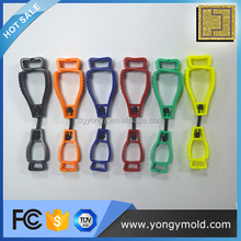 OEM injection molded safety plastic glove clips guard