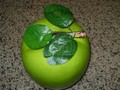 Big size Plastic fruits green apple for display
