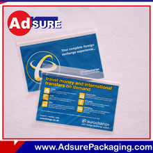 cash in transit bags/clear security bags/tamper proof plastic seal for bags