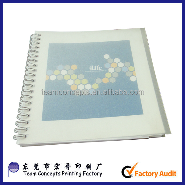 wire notebooks with plastic cover