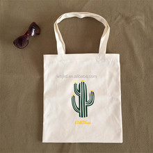 Super quality cotton canvas grocery tote bags with custom printed logo