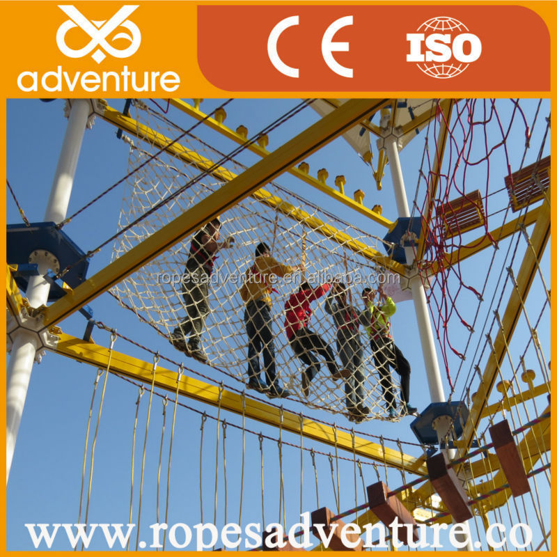 Outdoor obstacle course, Aerial ropes courses, Adult climbing frame landscape structures playground equipment