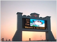 china hot sales outdoor led banner display screen board/p16mm outdoor advertising display billboard