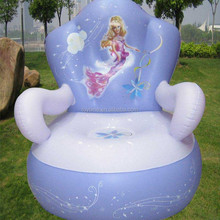 OEM design luxury fashion pvc inflatable sofa for children, home furniture air sofa chair, baby arm chair inflatable