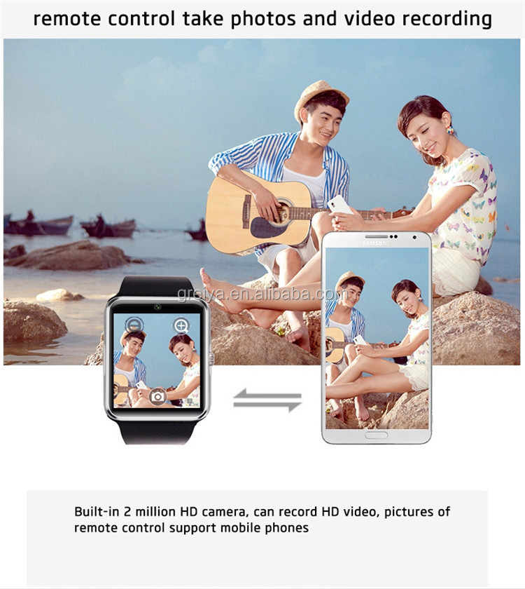 hot sell Android OEM camera and waterproof dual sim wrist watch mobile phone