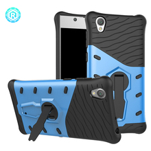Armor cell phone back case shell for sony xperia l1 cover with 360 Rotation Kickstand case for sony xperia l1
