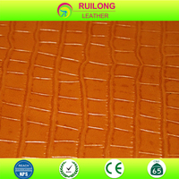 new hot sale crocodile embossed leatherette for bag and shoe