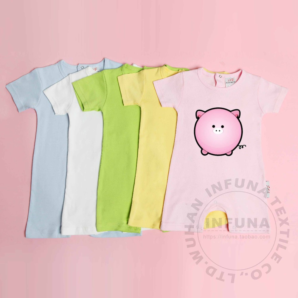 2016 hot sale customized cotton short sleeve baby romper suit, No minimum quantity required!