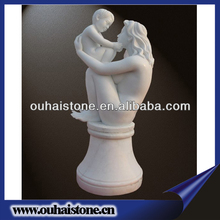 Factory Supply Exquisite Naked Woman With Baby Marble Statues