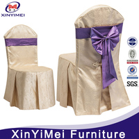 Cheap Wedding disposal party shimmer fabric chair cover