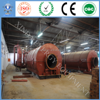 With CE Only 2 Workers operation waste tire to oil refining machine