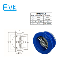 Rubber coated dual plate check valve