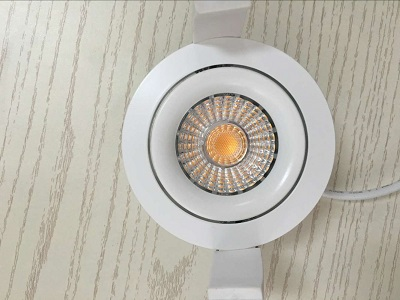 Norge CCT dim warm COB LED Downlight Super thin 2000-2800k Dimmable with elko 8w IP44