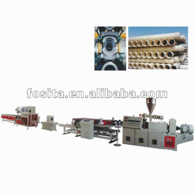 PVC wire duct machine(single-wall corrugated pipe)