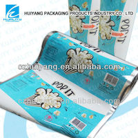 Hot laminated heat seal plastic film for food packing